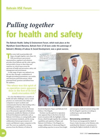 Pulling together for health and safety
