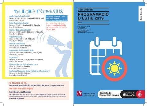 Programa estiu 2019