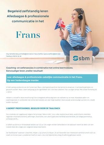 SBM online leermodule Frans Najaar 2019