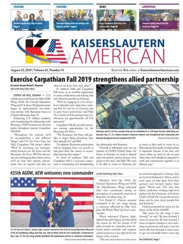 Kaiserslautern American, August 23, 2019