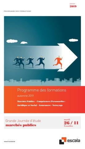 Escala programme des formations automne 2019