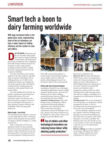Smart tech a boon to dairy farming worldwide