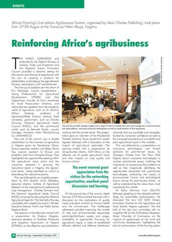 Reinforcing Africa's agribusiness