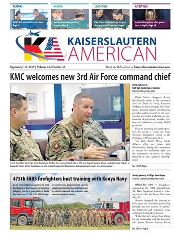 Kaiserslautern American, Sept. 13, 2019