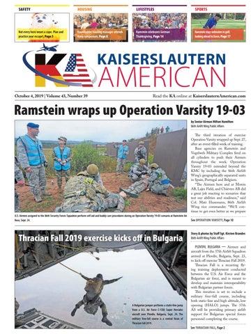 Kaiserslautern American, October 4, 2019