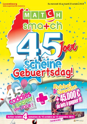 45 Joer Schéine Gebuertsdag!