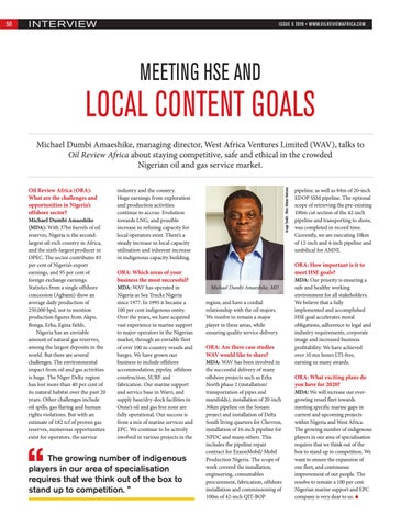 Meeting HSE and local content goals