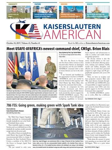Kaiserslautern American, October 18, 2019