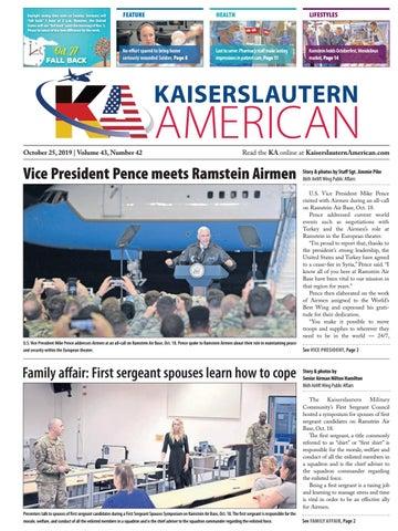 Kaiserslautern American, October 25, 2019