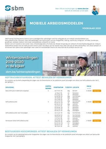 SBM Mobiele arbeidsmiddelen Voorjaar 2020