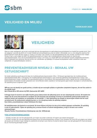 SBM veiligheid en milieu Voorjaar 2020