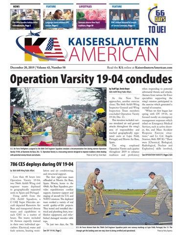 Kaiserslautern American, Dec. 20, 2019