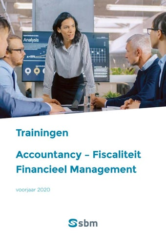 SBM trainingen financieel management voorjaar 2020