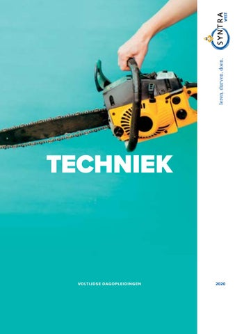 Syntra West sectorbrochure Techniek VJ 2020