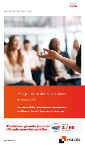 Escala programme des formations printemps 2020