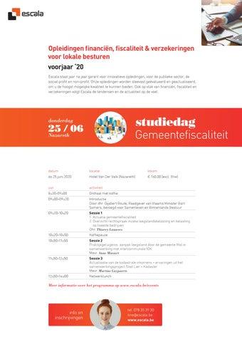 Escala Opleidingen financiën, fiscaliteit & verzekeringen voor lokale besturen VJ 2020
