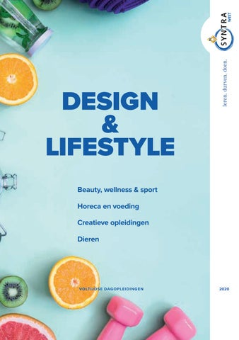 Syntra West sectorbrochure Design en Lifestyle beroepen VJ 2020
