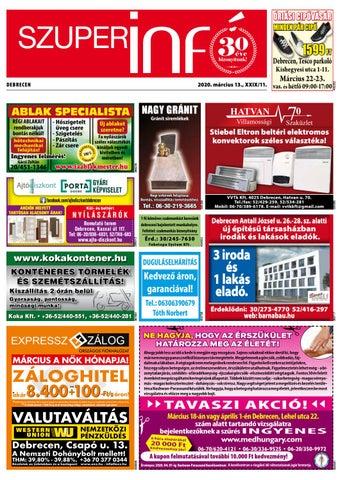 Debrecen 2020.03.13