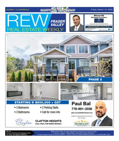 March 13, 2020 Real Estate Weekly - Surrey