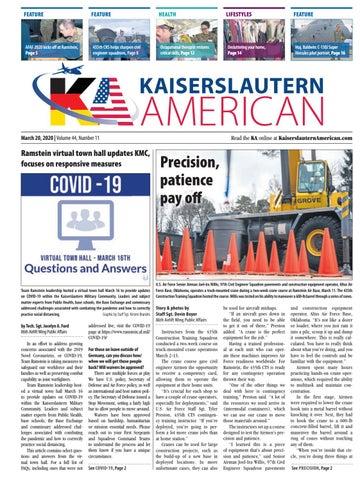 Kaiserslautern American, March 20, 2020