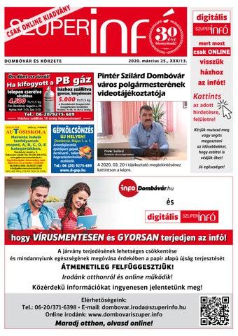 Dombóvári Szuperinfó 2020. 13. szám