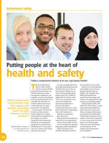 Putting people at the heart of health and safety