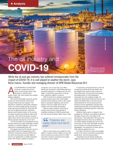 The oil industry and COVID-19