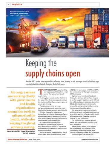 Keeping the supply chains open
