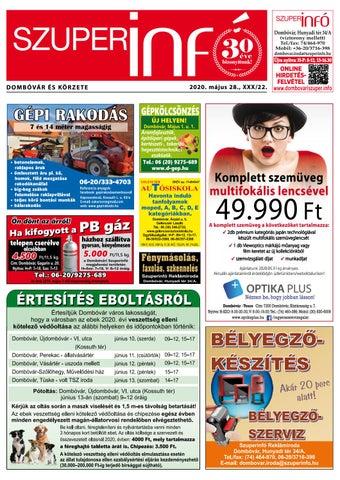Dombóvári Szuperinfó 2020. 22. szám