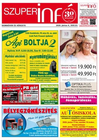 Dombóvári Szuperinfó 2020. 23. szám