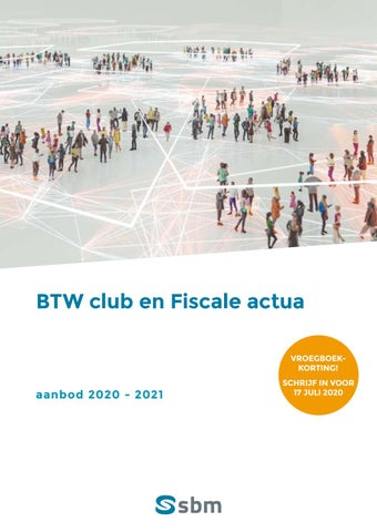 SBM BTW en fiscale Club najaar 2020