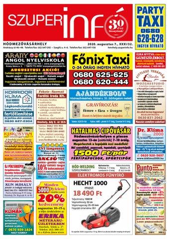 Hódmezővásárhely 2020-08-07