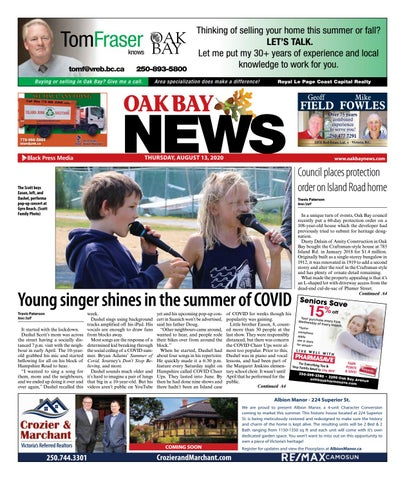 Oak Bay News, August 13, 2020