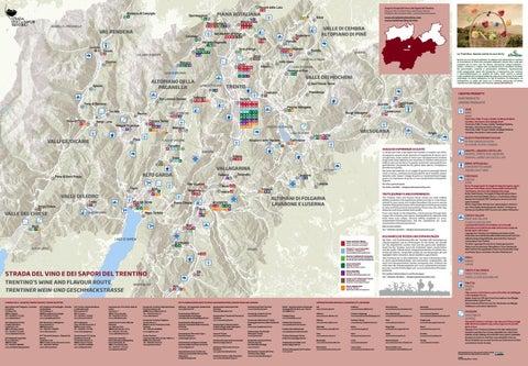 Mappa dei luoghi del gusto l Flavour map l Genusskarte