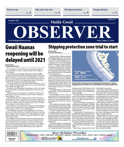 Haida Gwaii Observer, August 21, 2020