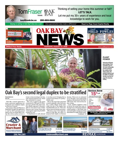 Oak Bay News, August 27, 2020