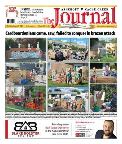 Ashcroft Cache Creek Journal, August 27, 2020