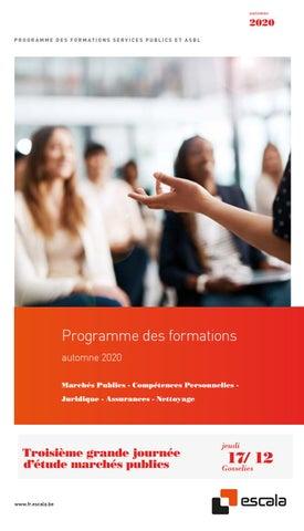 Escala Franstalige opleidingen najaar 2020