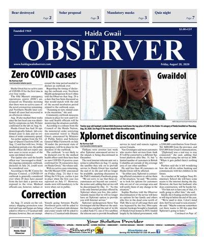 Haida Gwaii Observer, August 28, 2020