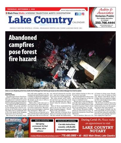 Lake Country Calendar, September 3, 2020