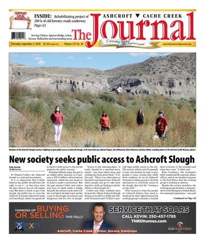 Ashcroft Cache Creek Journal, September 3, 2020