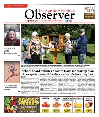 Agassiz Observer, September 3, 2020