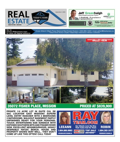 September 04, 2020 Real Estate Weekly - Abbotsford
