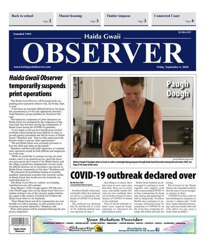 Haida Gwaii Observer, September 4, 2020