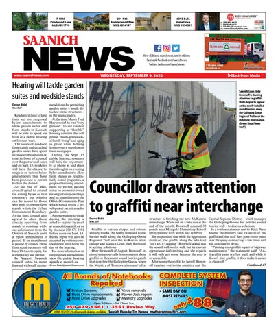Saanich News, September 9, 2020