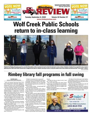 Rimbey Review, September 8, 2020