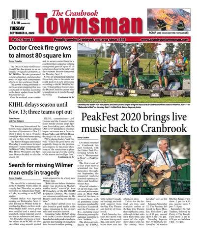 Cranbrook Daily Townsman, September 8, 2020