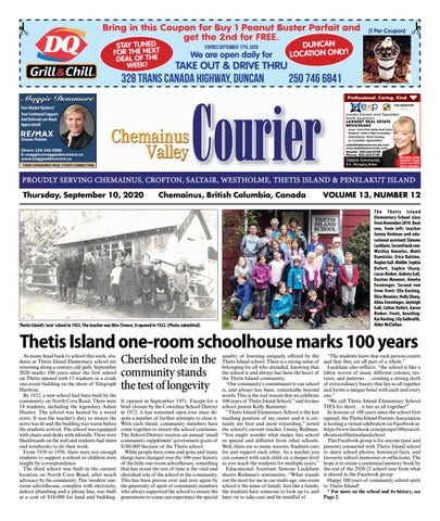 Chemainus Valley Courier, September 10, 2020