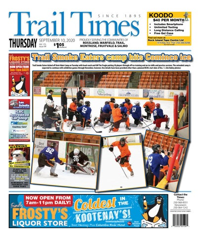 Trail Daily Times/West Kootenay Advertiser, September 10, 2020