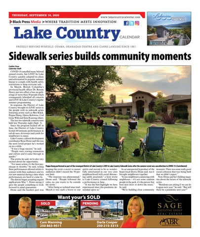 Lake Country Calendar, September 10, 2020